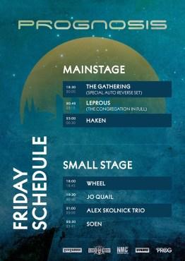 Running Order Prognosis Festival - Jour 1